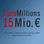 EuroMillions Jackpot 15 Mio. € für die Ziehung am 23.11.2012