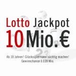 Mittwochslotto: Jackpot 10 Mio. €, 23.01.2013