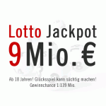 9 Mio. € Lotto Jackpot, 19.01.2013