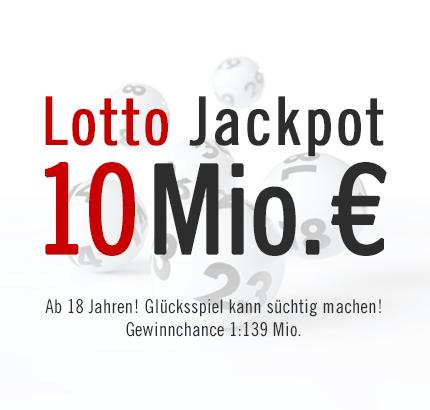 Von wegen Fastenzeit: 10 Mio. € Lotto Jackpot, 20.02.2013
