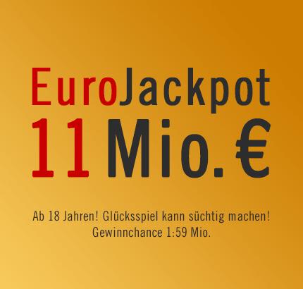 """EuroJackpot """"nur"""" 11 Mio. €"""