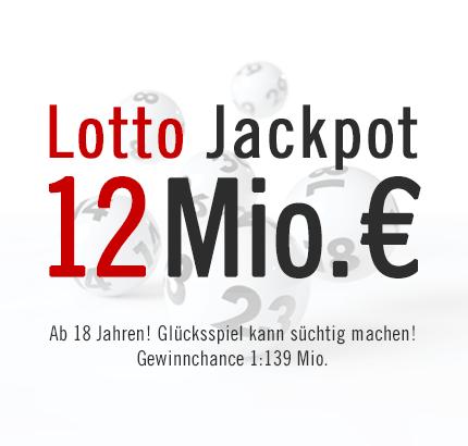 Höchster Lotto Jackpot 2013: 12 Mio. € Lotto Jackpot, 23.02.2013