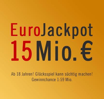 15 Mio. € EuroJackpot wartet in der letzten Februar-Ziehung, 22.02.2013