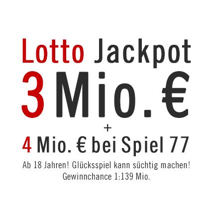 Lotto Jackpot 3 Mio. €, 06.02.2013