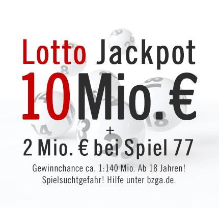 Lotto Jackpot: 10 Mio. € & Spiel 77: 2 Mio. €, Samstag, 30.03.2013