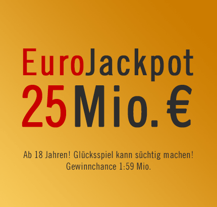 25 Mio. € EuroJackpot, 15.03.2013