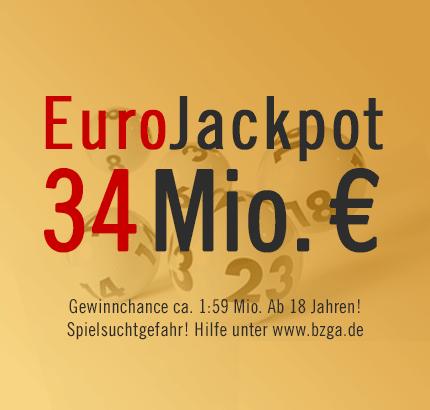 EuroJackpot 34 Mio. €, Freitag, 29.03.2013