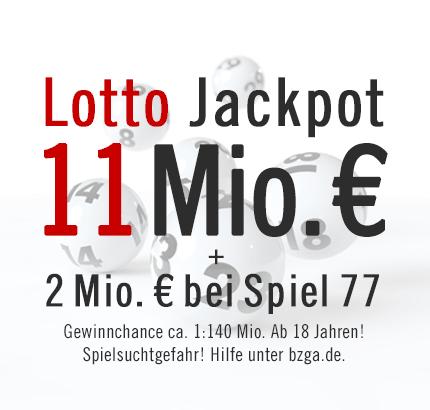 Jackpot: 11 Mio. € bei Lotto am Mittwoch & 2 Mio. € bei Spiel 77