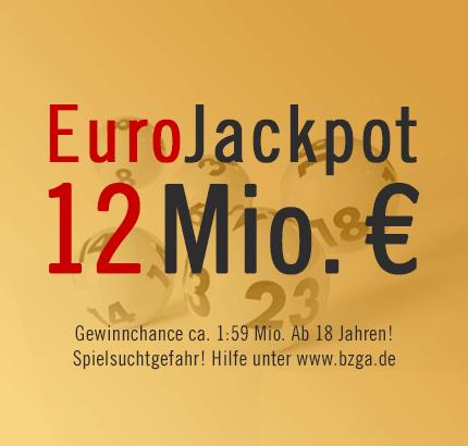 12 Mio. € EuroJackpot, 26.04.2013