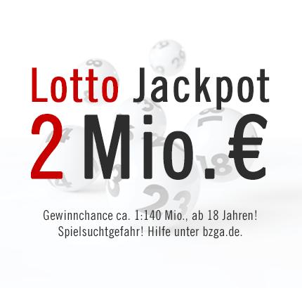 Neuer Lotto Jackpot: 2 Mio. €, Samstag, 13.04.2013