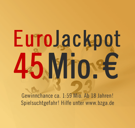 Rekord-EuroJackpot: 45 Mio. €, Freitag, 12.04.2013