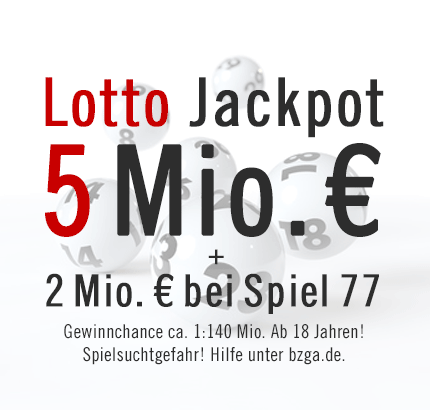 Lotto Jackpot am Samstag, 20.04.2013: 5 Mio. €