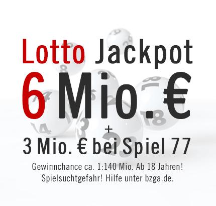 Annahmeschluss für den Lotto Jackpot, 24.04.2013