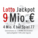 Lotto Jackpot Chance: 9 Mio. €, 27.04.2013